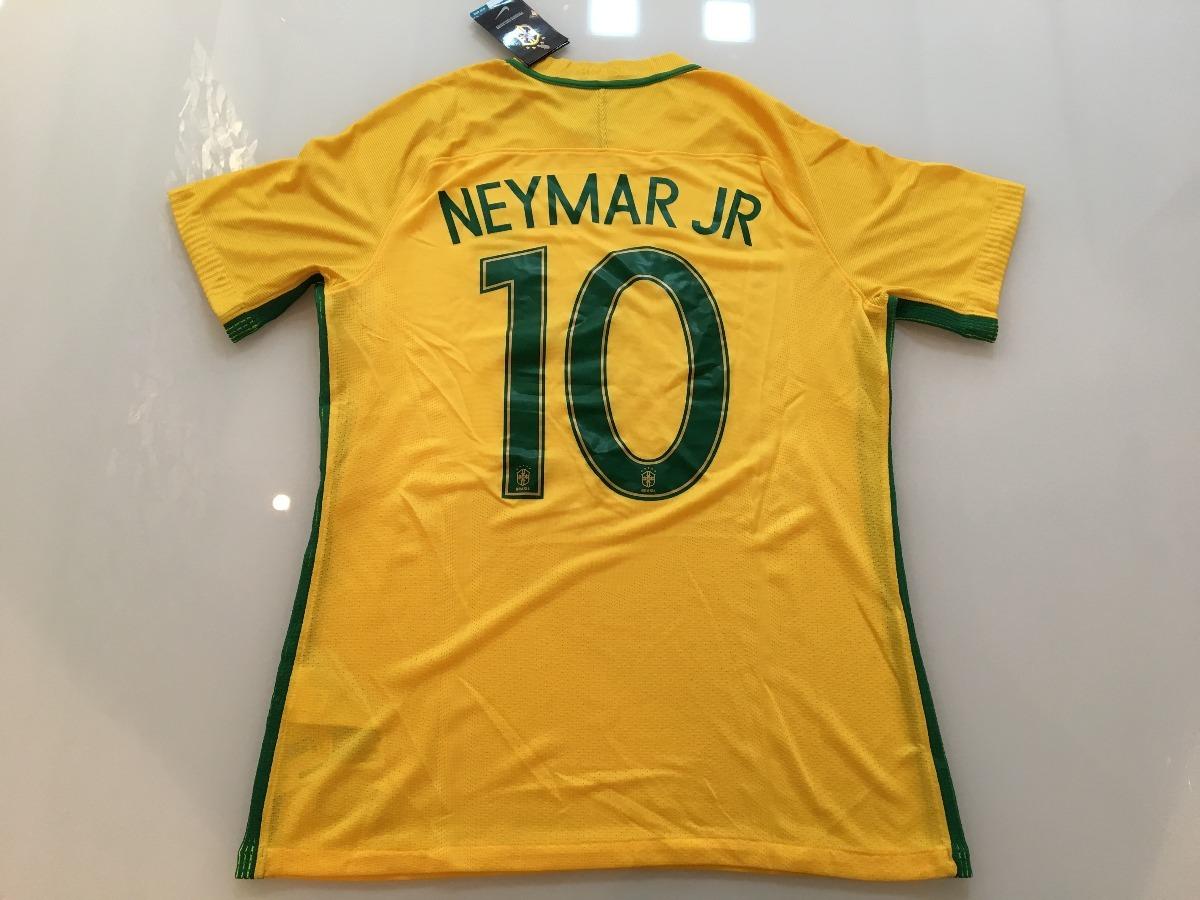 64b9062da3426 Camiseta Brasil -  10 Neymar - Final Olimpíadas 2016 - R  299