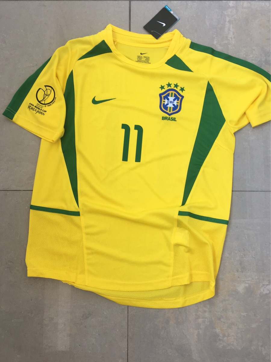 camiseta brasil 2002 ronaldinho importada. Cargando zoom. 4801ee818d496