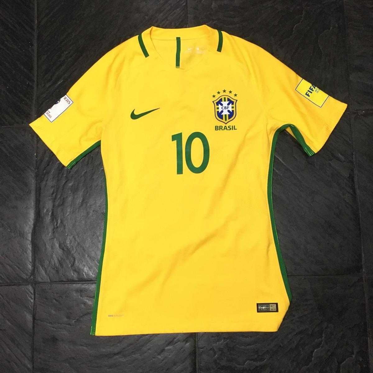 0fcf3336a6a49 camiseta brasil 2016 2017 titular eliminatorias  10 neymar. Cargando zoom.