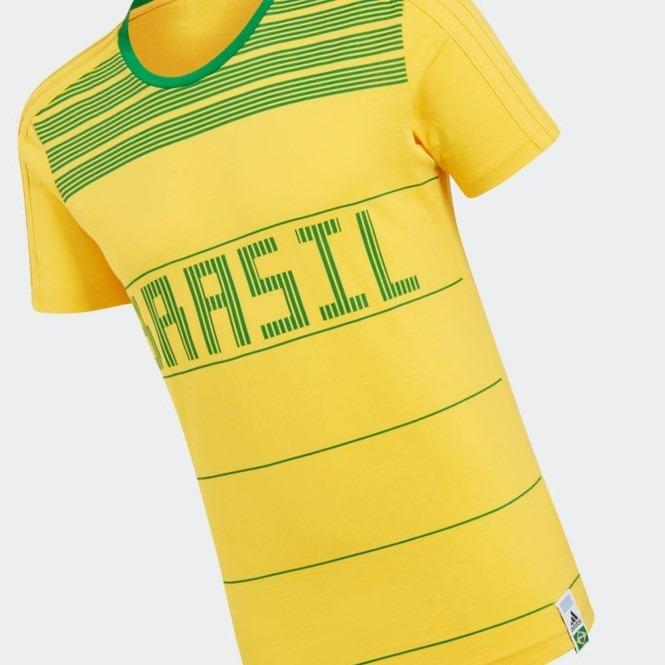 a488960aa5 Camiseta Brasil adidas Amarela E Verde Promoção - R  99