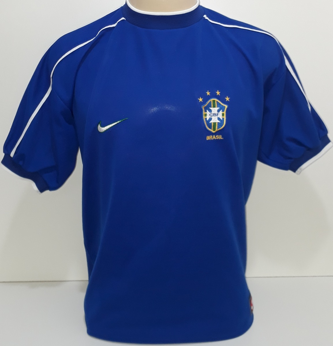 Lago taupo Sumamente elegante Estereotipo  Camiseta Brasil Azul Nike 1998 Orig Copa Da França - G9 - R$ 149 ...