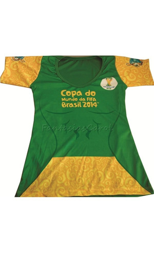 camiseta brasil  blusinha adulto feminina oficial fifa copa