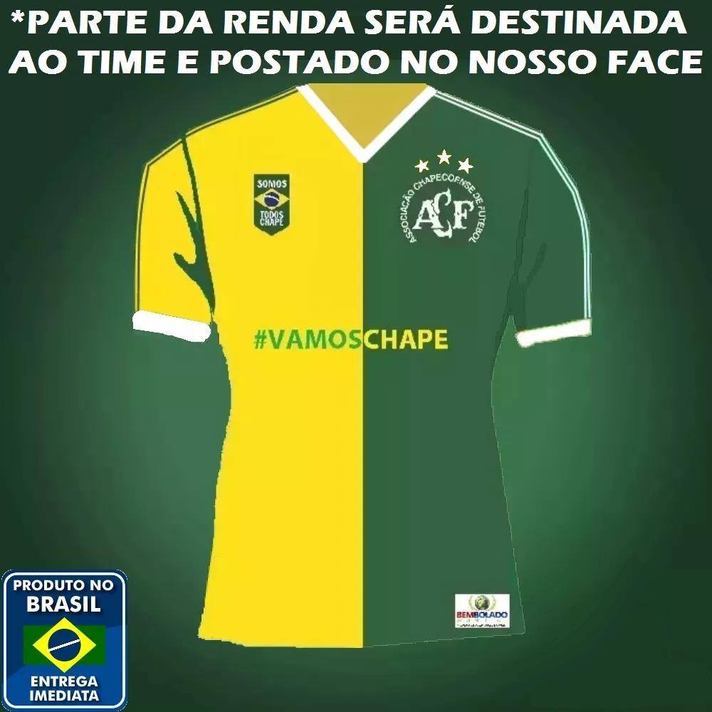 camiseta brasil chapecoense original chapecó  vamoschape. Carregando zoom. 940f903bce7