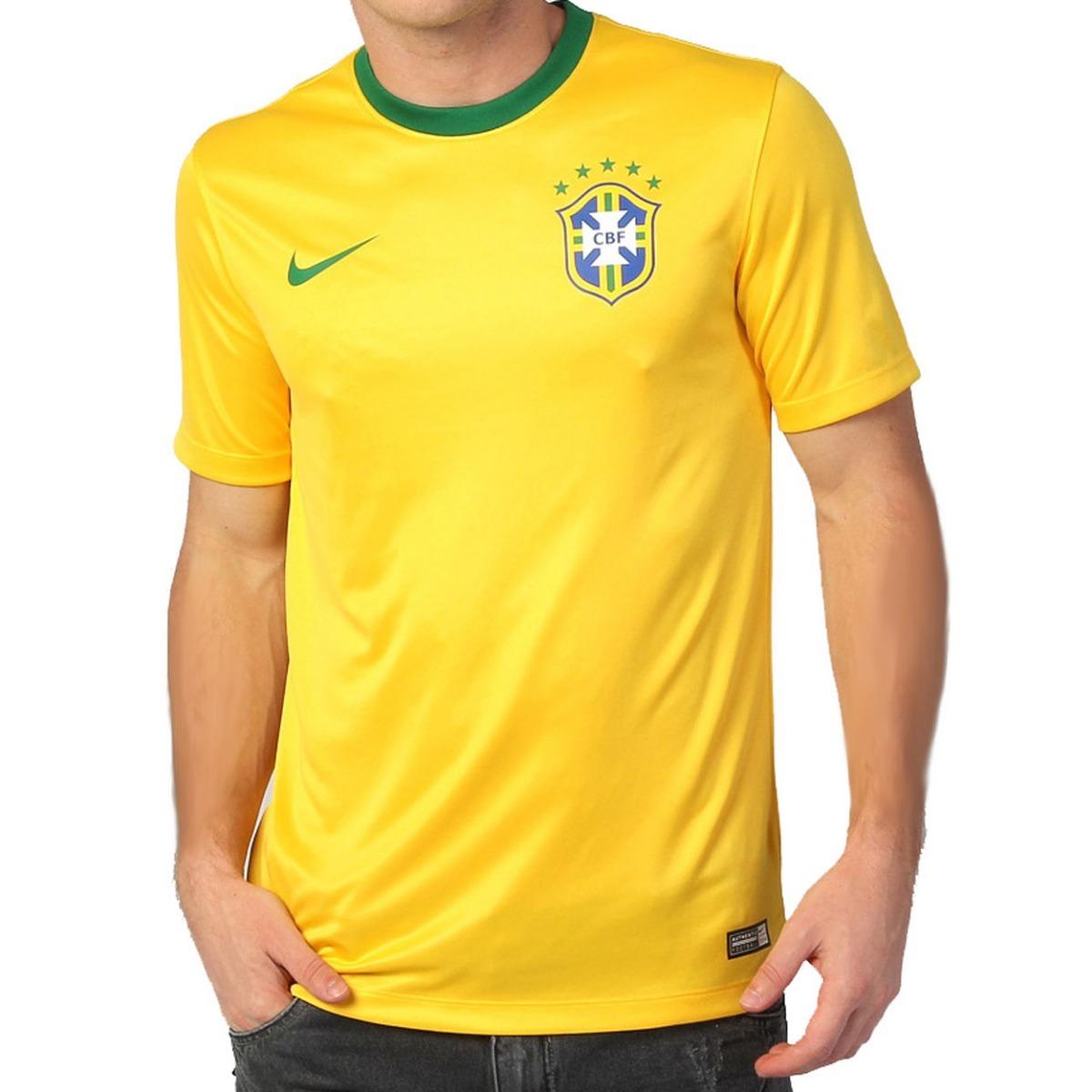 95cf490fd5 Camiseta Brasil Oficial Torcedor Nike 2014