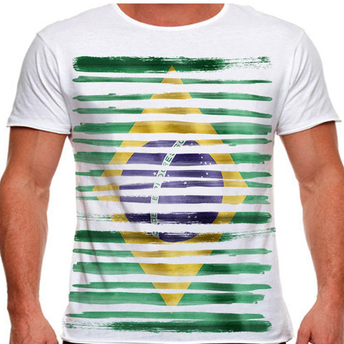 camiseta brasil stripes masculina