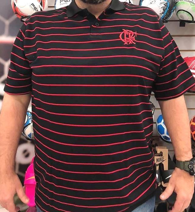 8feb303343 Camiseta Braziline Flamengo Trad Polo Plus Size - R  69