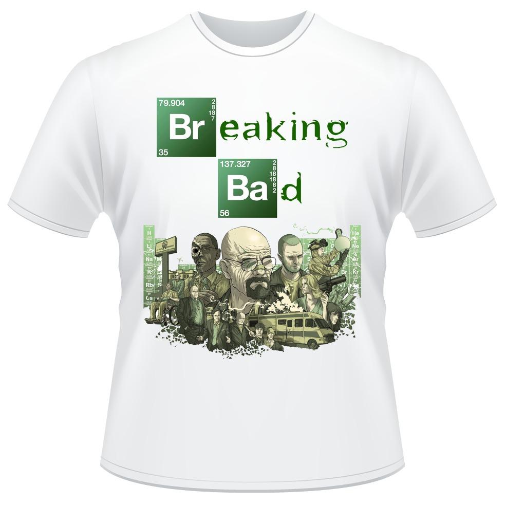 62d891e0dc8bd camiseta breaking bad branca heisenberg camisa frente verso. Carregando  zoom.