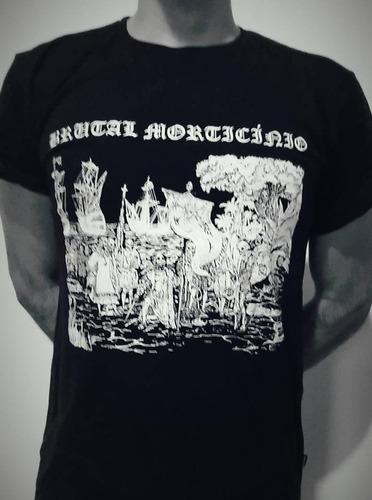 camiseta brutal morticínio (brazilian black metal band)