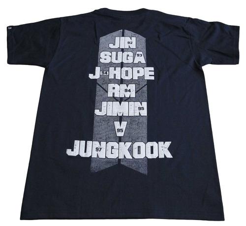 camiseta bts importada talla s rock activity