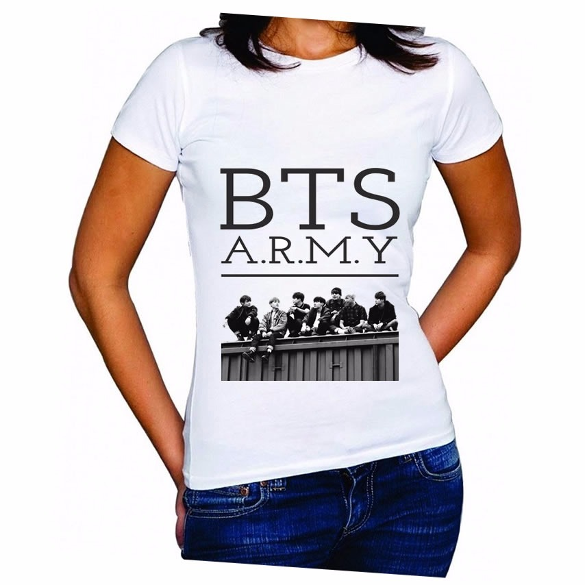 Camiseta Bts Kpop Oferta Baby Look Ou Camiseta Normal - R  24 98420265075