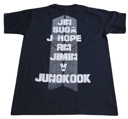 camiseta bts rock activity importada talla m