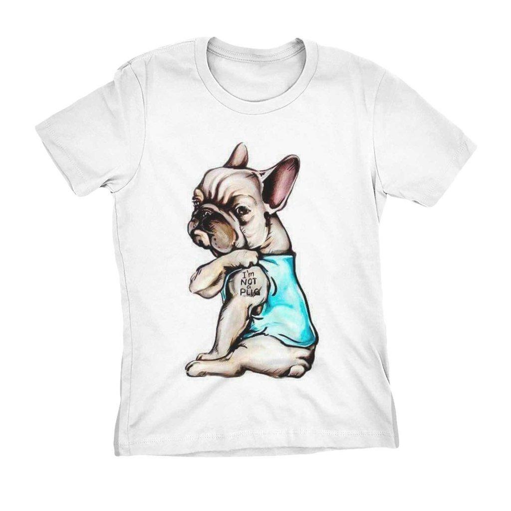 camiseta bulldog francês i m not a pug engraçada pet cachorr. Carregando  zoom. 3df6df3574178