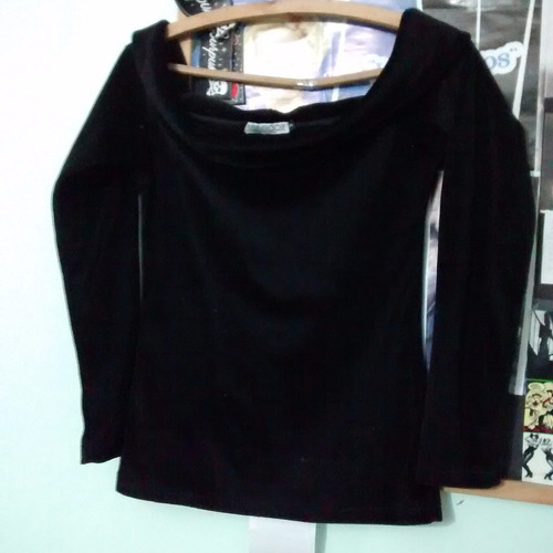 camiseta buzo cuello bote de plush marca belle epoque