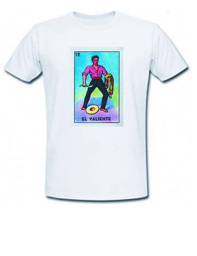 camiseta caballero lotería mexicana el valiente
