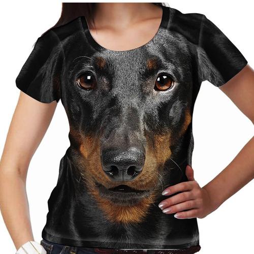 camiseta cachorro dachshund feminina