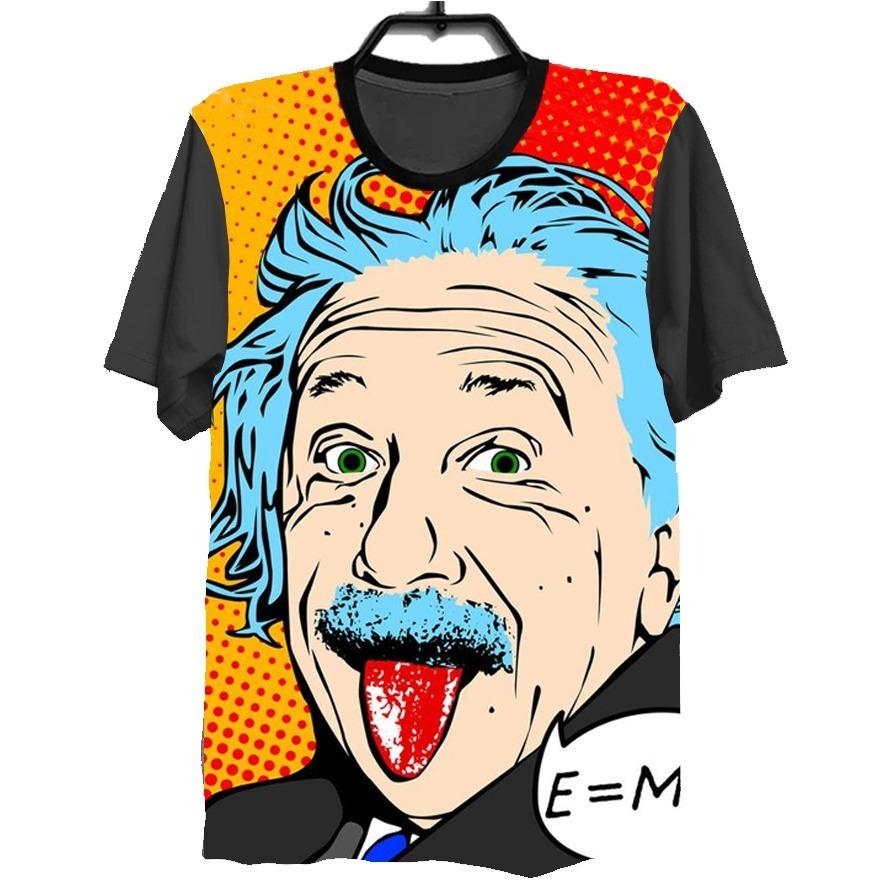 5ff907240 camiseta camisa 3d full albert einstein fisico. Carregando zoom.