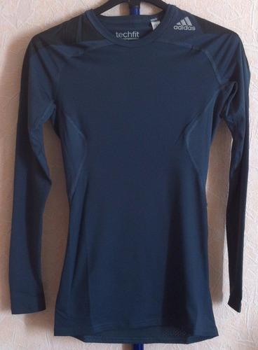 camiseta camisa adidas techfit licra  manga larga