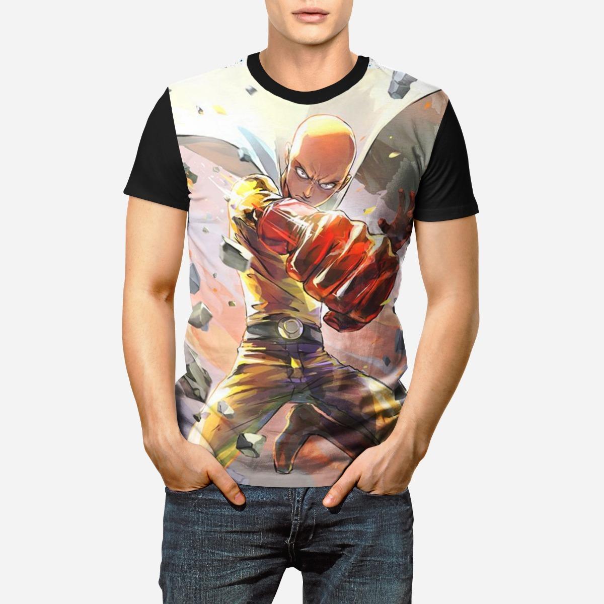 29cef4b07 Camiseta Camisa Anime One Punch Man Saitama Forte 3d Full - R  69