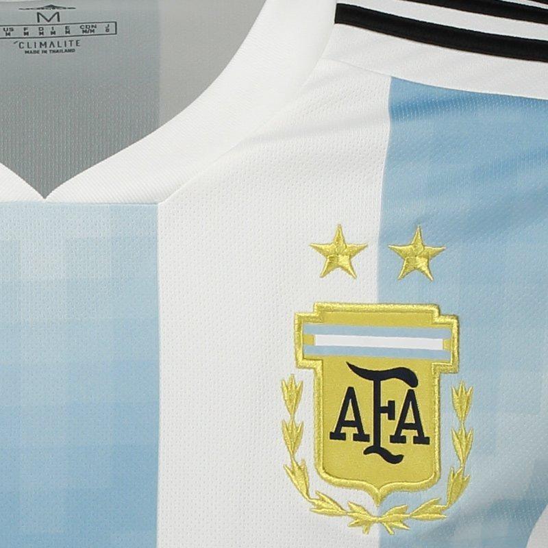 camiseta camisa argentina home 2017 2018 lisa. Carregando zoom. c3d48883b885c