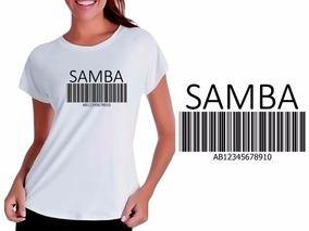 da7cf77183 Camiseta Camisa Baby Look Branca Músicas Samba Pagode Dança