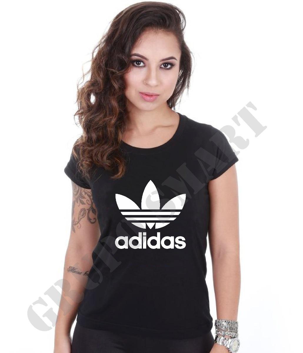 aafcff4b09acf camiseta camisa baby look feminina adidas personalizada. Carregando zoom.