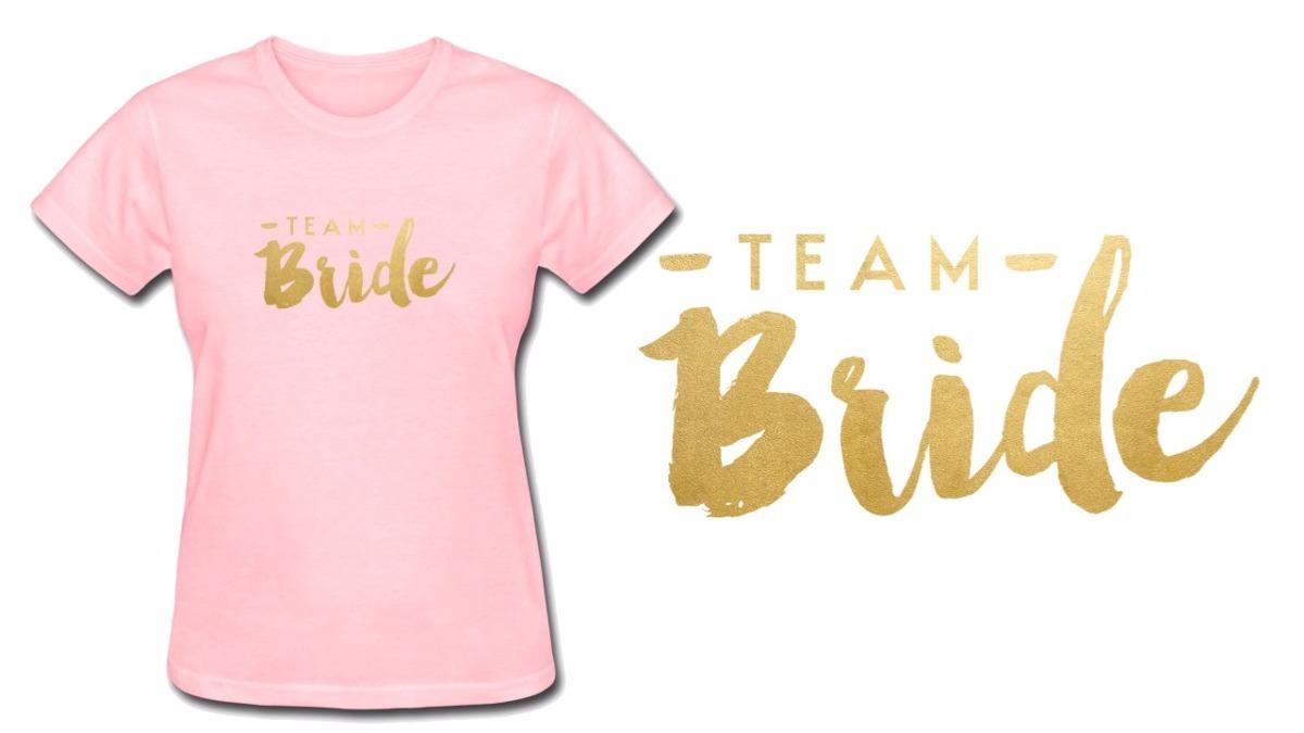 Camiseta Camisa Baby Look Rosa Team Bride Despedida Solteira - R  72 ... c418236c8e3