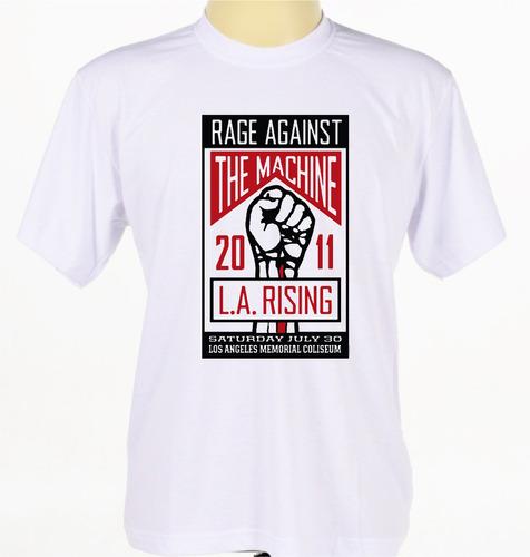 camiseta camisa banda rap rock pop rage against the machine
