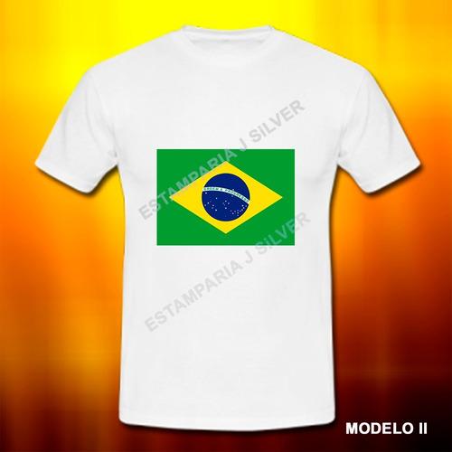 camiseta camisa bandeira do brasil patriota nação promoção