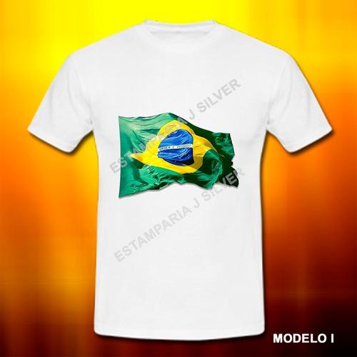 camiseta camisa bandeira nação brasileira patriota