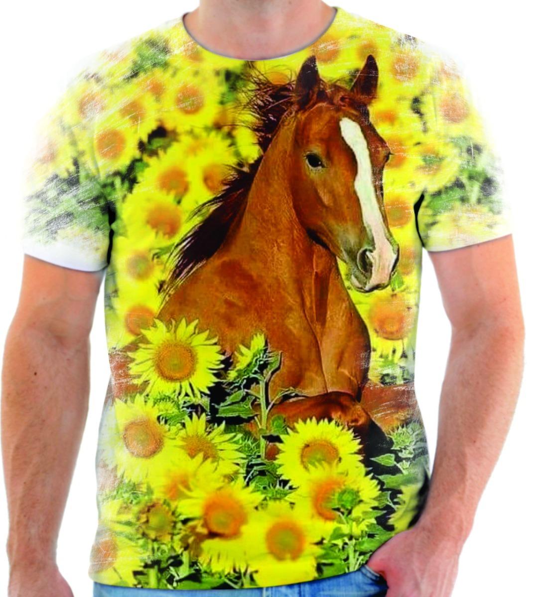 3e8df82a6a5fb Camiseta Camisa Blusa Animal Cavalo Cowboy Bicho 01 - R  49