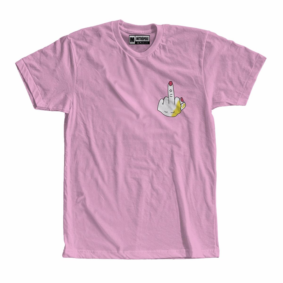 Camiseta Camisa Blusa Dedo Fuck Moda Tumblr Feminismo Mulher - R  26 ... 9140d8d7ddeb2