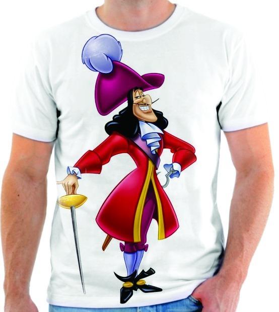 camiseta camisa blusa desenho peter pan capitão gancho 01 r 44 90