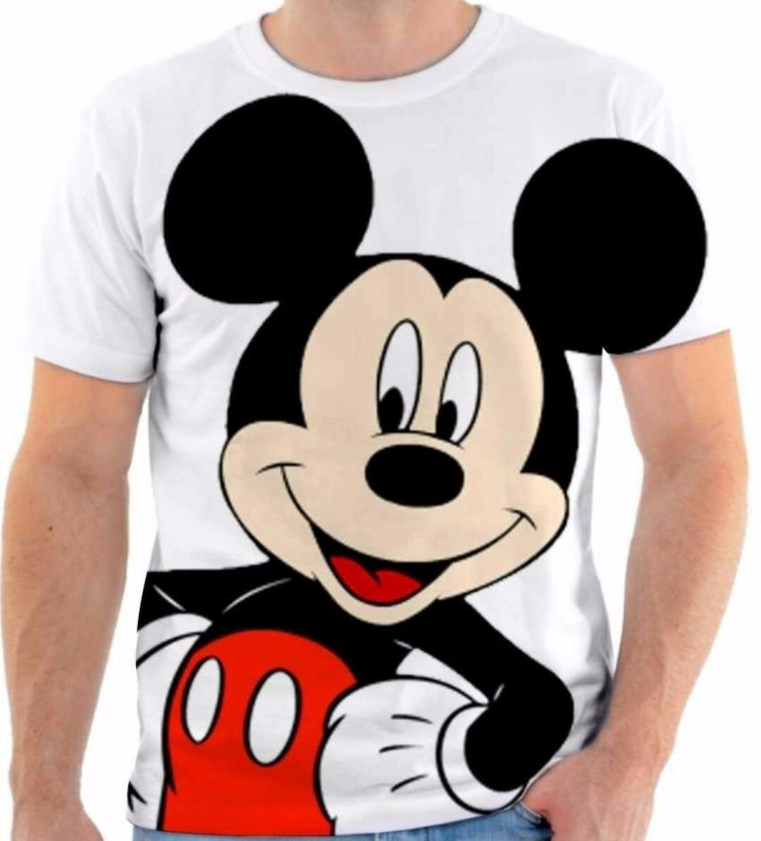 Camiseta Camisa Blusa Mikey Mouse Desenho Animado Disney 02 R