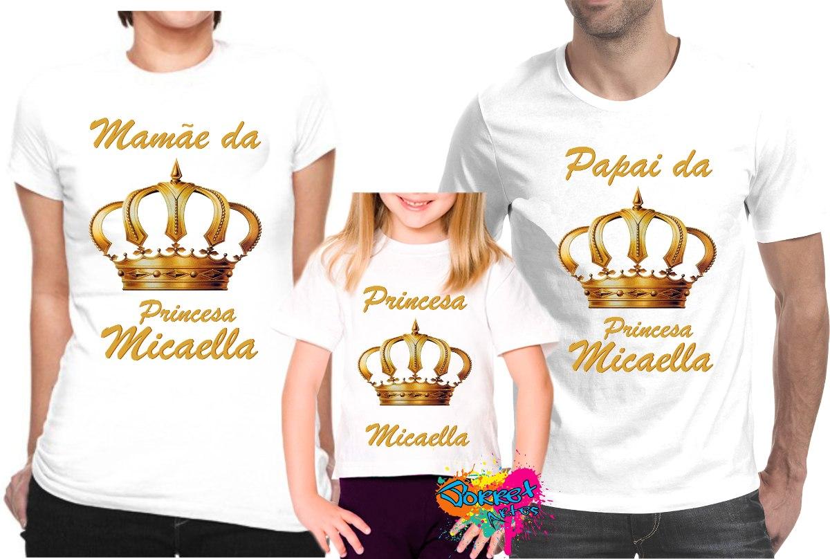 Camiseta - Camisa - Blusa Personalizada Coroas A4   3 Peças - R  70 ... bc9ca8cb9bbe9
