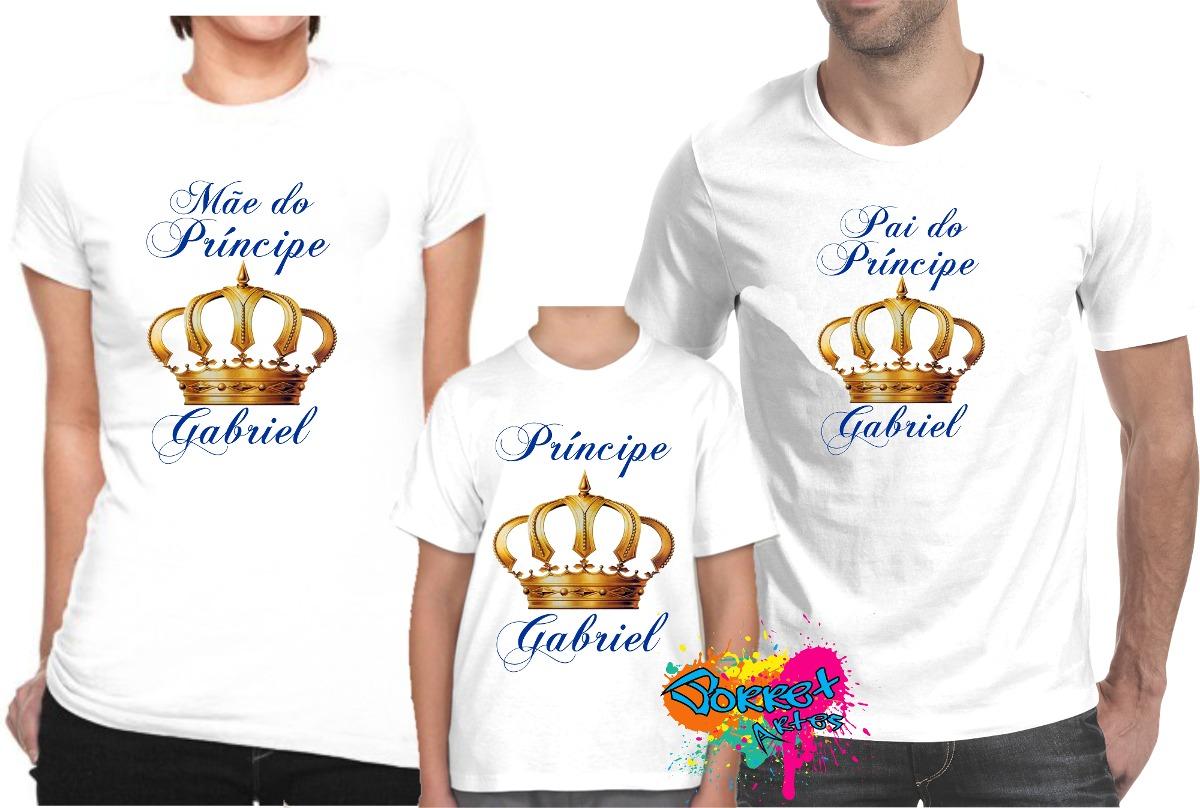 0ef30f1a6 Camiseta - Camisa - Blusa Personalizada Coroas A4   3 Peças - R  70 ...