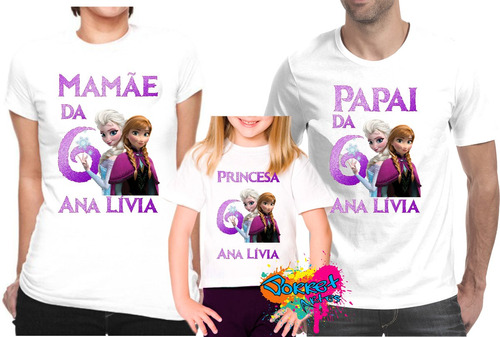 camiseta - camisa - blusa  - personalizada  frozen a3 / 3pçs