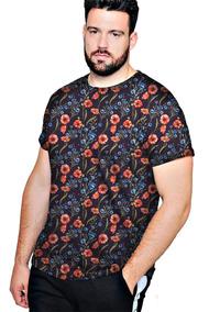 baad15c8d Camiseta Camisa Blusa Plus Flor Havana - Moda Plus Size