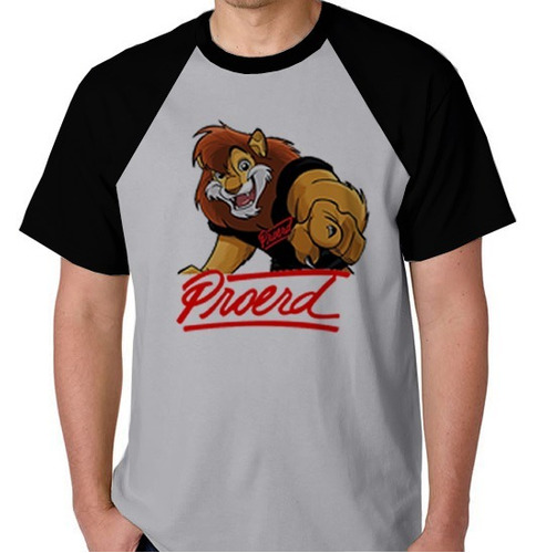 camiseta camisa blusa raglan proerd programa drogas leão p11