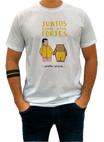 camiseta camisa blusa unissex setembro amarelo suicídio 1689