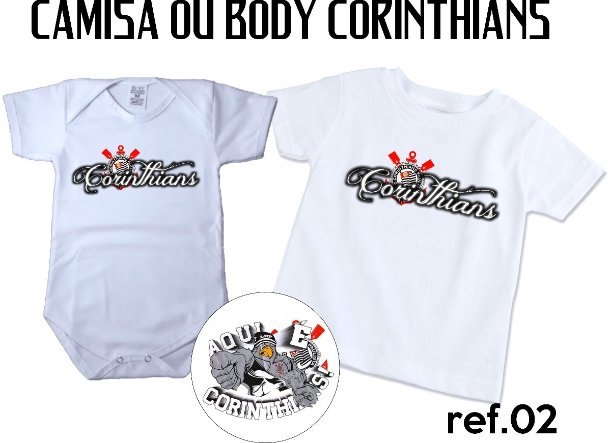 dfd21715068b8 camiseta camisa body corinthians personalizada infantil. Carregando zoom.