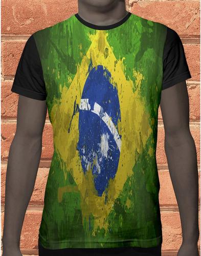 camiseta  camisa brasil bandeira verde amarelo nação   1164