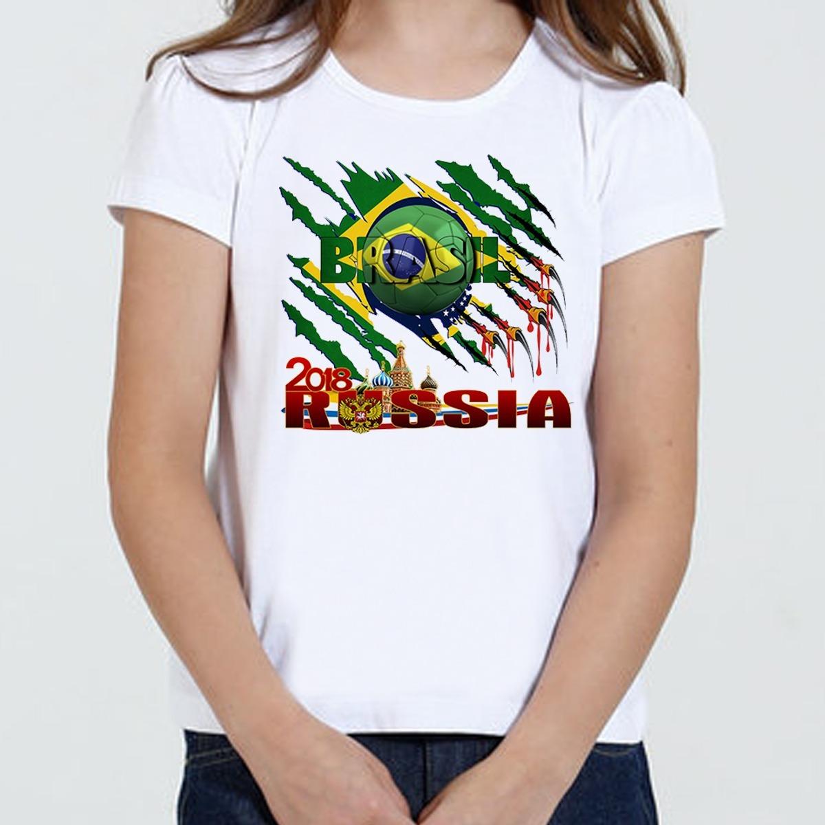 f82f39e2e3188 camiseta camisa brasil x russia 2018 copa do mundo. Carregando zoom.