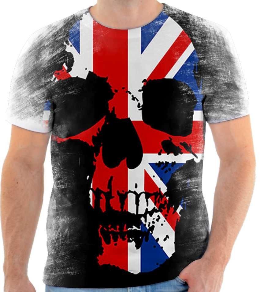 8e36414686 camiseta camisa caveira bandeira inglaterra skull england 05. Carregando  zoom.