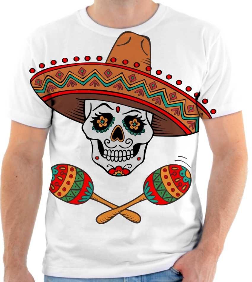 9e6c6c74e camiseta camisa caveira mexicana estampada. Carregando zoom.