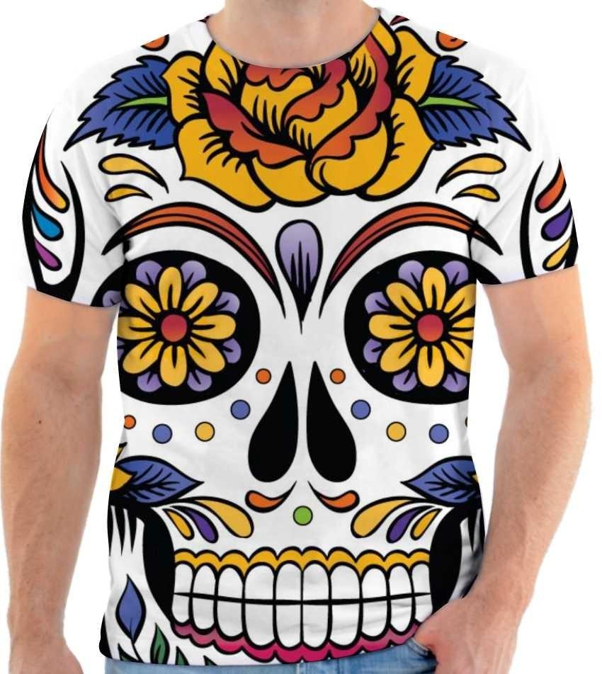 9d62a2a8c ... camisa caveira mexicana estampada masculina 166. Carregando zoom.
