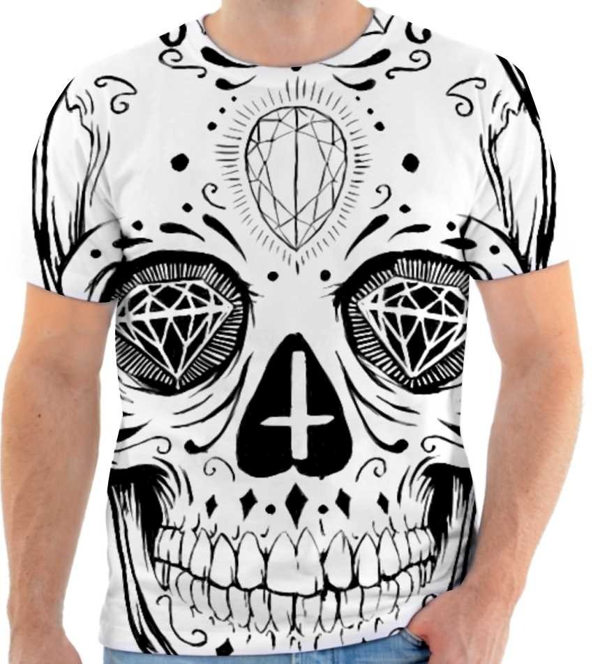 12ff73fac camiseta camisa caveira mexicana masculina e feminina. Carregando zoom.