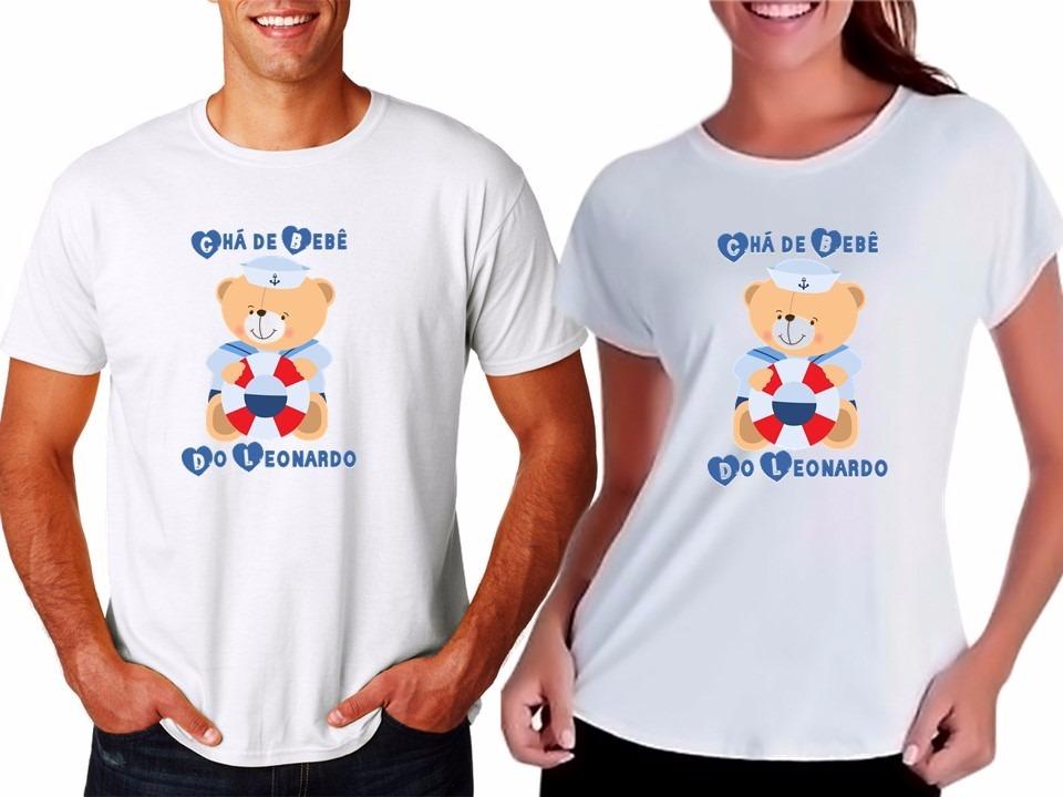Camiseta Camisa Chá De Bebê Do Leonardo Urso Marinheiro Azul R 49