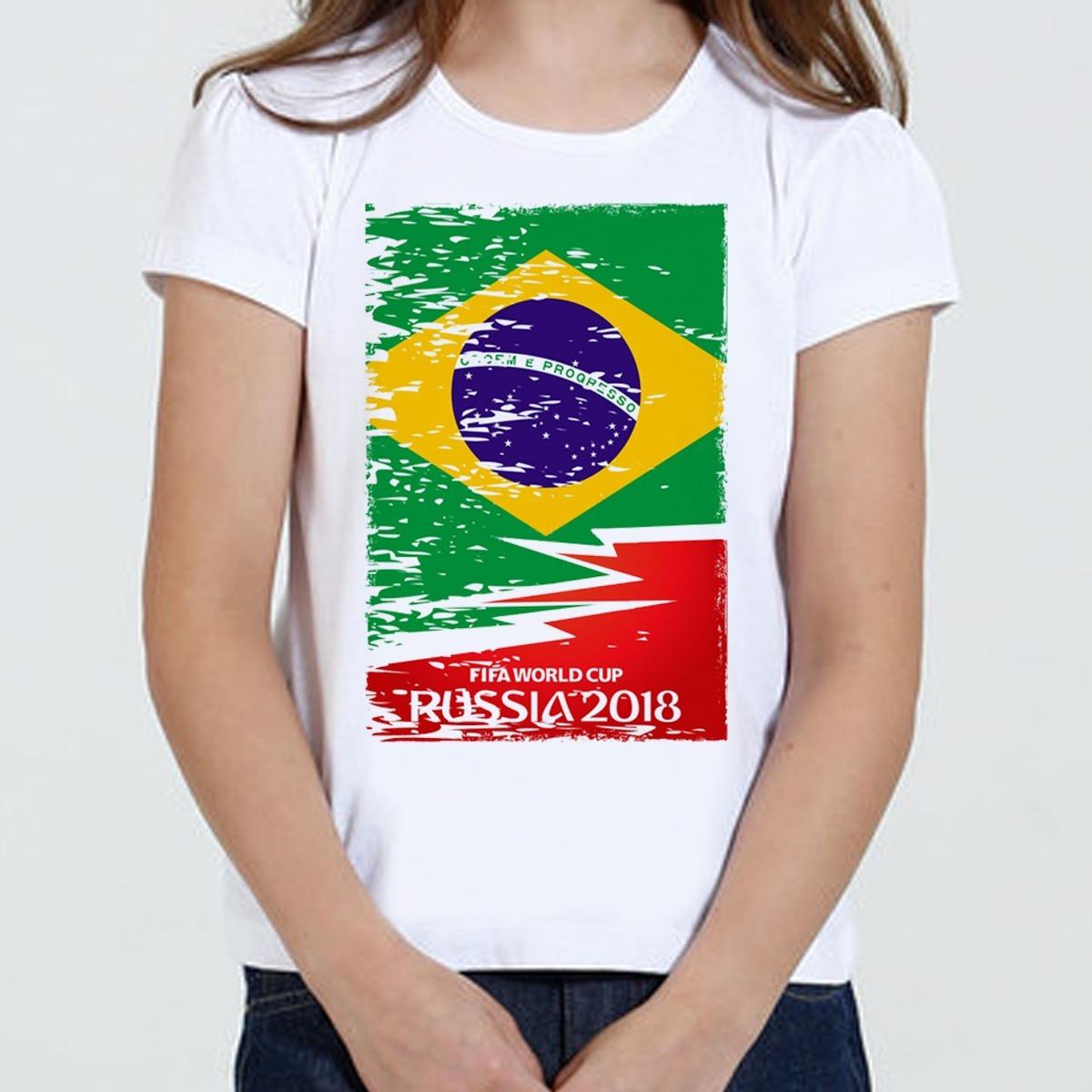 0e1a6b1a7eaa2 Camiseta Camisa Copa Do Mundo Russia Brasil - R  29