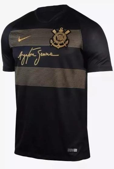 Camiseta Camisa Corinthians Ayrton Senna Original - Preto - R  159 ... 04be7aceb3263