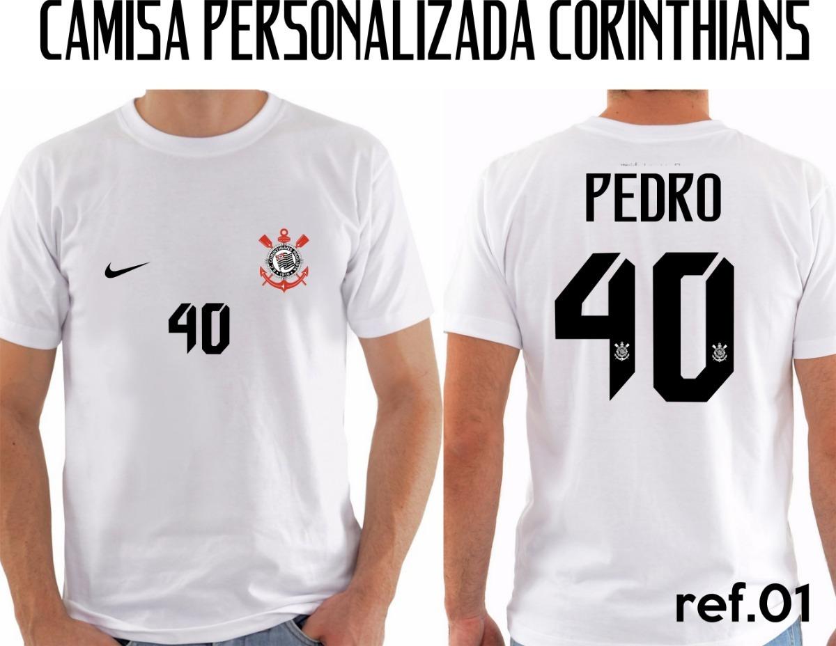 camiseta camisa corinthians personalizada adulto. Carregando zoom. 7a56bf367a91e
